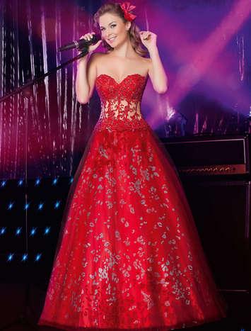 Vestido de Debutante Glamour Band 14