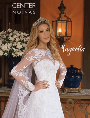 Vestido de noiva com mangas magnólia 25
