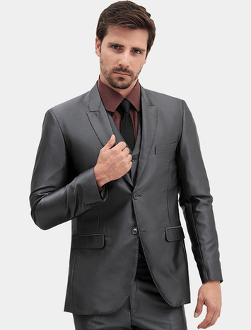 Slim Fit Neutral Gray