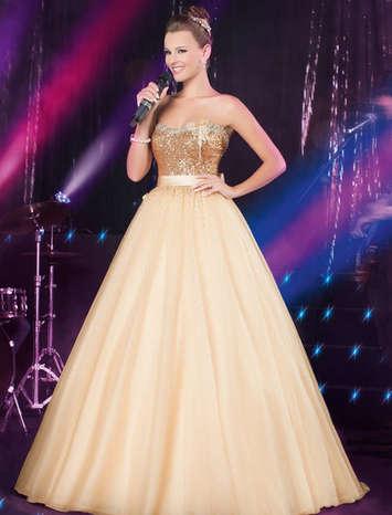 Vestido de Debutante Glamour Band 22